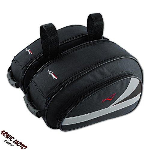 A-Pro Textil Satteltasche Motorrad Touring Tasche 18lt Wasserdicht Ledertasche Schwarz