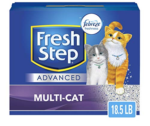 Fresh Step Advanced Multi-Cat Clumping Cat Litter with Odor Control - 18.5 lb, Gray (32396)