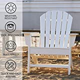 Adirondack-Stuhl aus Akazienholz, Gartenstuhl mit Rückenlehne & Armlehnen - 5