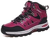 DimaiGlobal Chaussures de Randonnée Antidérapantes Trekking Promenades Montantes Imperméable Sports Sneakers pour Homme Femme,Rose2,39 EU