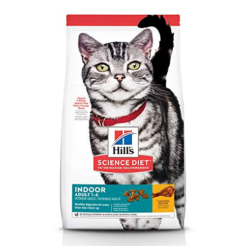 Product Image 1: Hill's Science Diet Adult Indoor Cat Food, Chicken Recipe Dry Cat Food, 15.5 Lb Bag