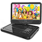 WONNIE 2020 Upgrade 12.5' Lecteur DVD Portable avec écran Rotatif à 270°, Carte SD et Prise USB avec Charge directe Formats/RMVB/AVI / MP3 / JPEG, Parfait pour Enfants (Noir)