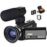 Caméscope 4K, caméra vidéo ACTITOP 48mp HD 1080p WiFi Vision Nocturne IR...