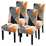 IVYSHION Housse de Chaise Extensible Imprimé Couverture de Chaise pour Salle à...