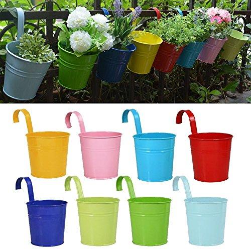 RIOGOO Flower Pots Hanging Flower Pots, Garden Pots Balcony Planters...