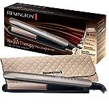 Remington Fer à Lisser, Lisseur, Plaques Advanced Ceramic, Chauffe Rapide, Lissage Professionnel, 5 Températures - S8590 Keratin Therapy