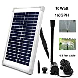 ECO-WORTHY Solar Fountain Water Pump Kit 10W Solar Panel Submersible Powered Pump for Small Pond, Garden Decoration, Pool, Birdbath……