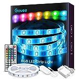 Ruban à LED 5M Govee Bande LED 5050 RGB Multicolores Améliorée, Kit de...