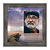 Memorial Picture Frames for Sympathy Gift Baskets, Memorial Gifts for Loss of Mother, Bereavement Gifts, Condolence Card in Memory of Loved One, Sympathy Gifts for Loss of Father, 'I'm Free' 6345BW