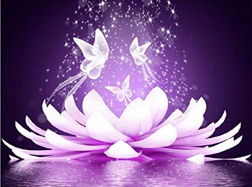 2019 nuevo Lotus Butterfly bordado pintura de diamantes decoración del hogar familiar para regalo de navidad zx