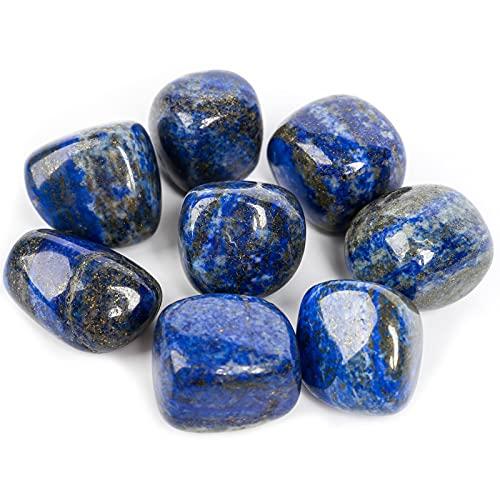 ZenQ 1/2 lb Tumbled Lapis Lazuli Stones for Wicca, Reiki,...