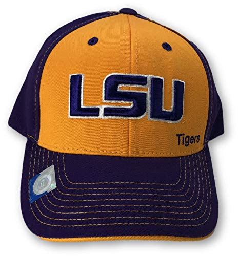 Captivating-NCAA-LSU-Tigers-Adjustable-Hat-Yellow