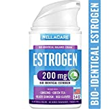 Estrogen Cream for Menopause Relief - PCOS Supplement with Phytoestrogen & Black Cohosh - Made in USA - Effectively Relieves Hot Flashes - Bioidentical Hormones for Women - Micronized Estirol Cream