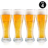 USA Made Nucleated Pilsner Glasses-...