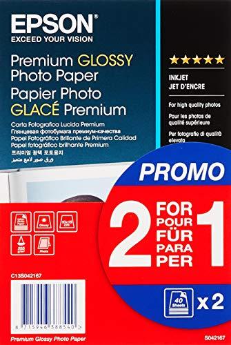 Epson Super Carta Fotografica Lucida, 2 x 40 fogli, 10 x 15 cm, Glac, Formato A6