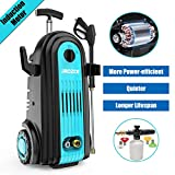 iRozce Pressure Washer, 3045PSI 2.8GPM Induction Motor Electric Power Washer with Foam Cannon and Metal Adapter for Driveway, Car Cleaning, Blue