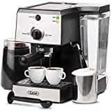 Espresso Machines 15 Bar Coffee Machine with Milk Frother Wand for Espresso, Cappuccino, Latte and Mocha, 1.5L large Removable Water Tank and Double Temperature Control System, Blcak, 1100W