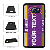 BleuReign(TM) Personalized Basketball Los Angeles Purple and Gold License Plate TPU Rubber Silicone Phone Case Back Cover for Samsung Galaxy S8 Plus