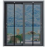 [Upgraded Version] Magnetic Screen Door 74'x81', Homitt Durable Fiberglass Mesh Curtain, Auto Closer for Sliding Doors