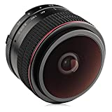 Opteka 6.5mm f/2 HD MC Manual Focus Fisheye Lens for Canon EF-M Mount APS-C Digital Cameras