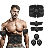 DeepSleepro Abs Stimulating Belt- Abdominal Toner-Training Device for Muscles- Wireless Portable to-Go Gym Device- Muscle Sculpting at Home- Fitness Equipment for at-Home Workouts
