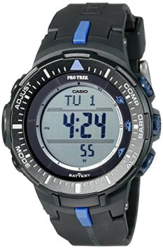 Casio Men's PRG-300-1A2CR Pro Trek Triple-Sensor Tough Solar Black Digital Watch