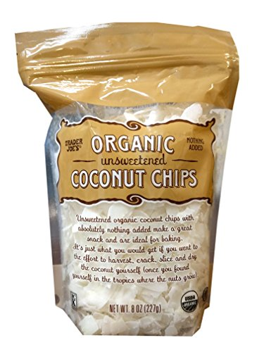 Trader Joe's Organic Unsweetened Coconut Chips (Pack of 1)