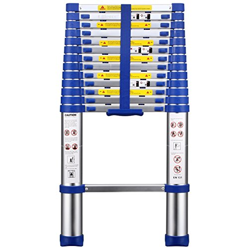 2. OLLIEROO Aluminum Telescopic Extension Ladder