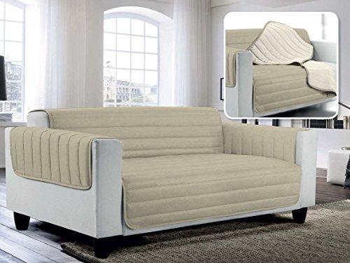 Italian Bed Linen Elegant Copri Divano Trapuntato in Microfibra Anallergica, Doubleface,...