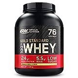 Optimum Nutrition Gold Standard 100% Whey Protéine en Poudre avec Whey Isolate, Proteines Musculation Prise de Masse, Crème Vanille, 76 Portions, 2.28kg, l'Emballage Peut Varier