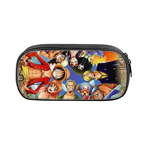 One Piece - Astuccio portamatite con pencil per ufficio e cosmetici, 21,5 x 10 x 5,5 cm, adatto per uomini e donne