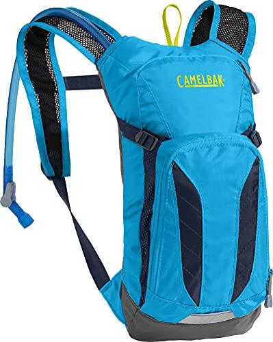 CamelBak Mini M.U.L.E. Kids Hydration Backpack, 50 oz, Atomic Blue/Navy Blazer