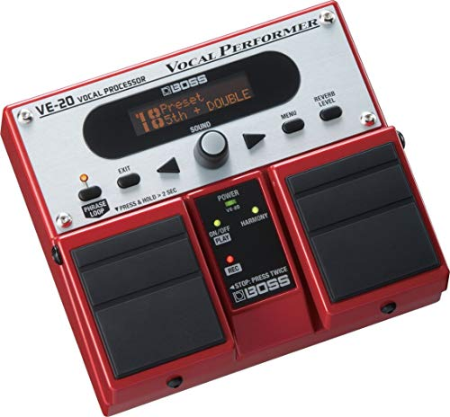 BOSS VE-20 Vocal Performer Multi-Effects Pedal, Easy Operation, Road-tough BOSS Construction