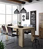 Home Innovation - Table Console Extensible, rectangulaire avec rallonges,...