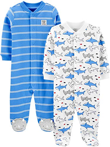 Simple Joys by Carter's Boys' 2-Pack Cotton Snap Footed Sleep and...