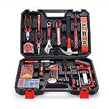 Herramientas 110 piezas Juego de herramientas de Inicio Kit de reparación Inicio supervivencia Maletín del sistema de herramienta del sistema de herramienta práctica for cualquier emergencia en el hog