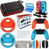 Ensemble Accessoire pour Nintendo Switch - Housse Protection écran pour...