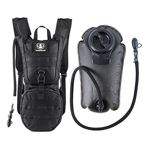 Gonex Trinkrucksack mit 3 L Trinkblase, Barbarians Taktischer Hydrapack mit Trinkschlauchperfekt für Wandern Radfahren Joggen, Spazieren Klettern und Bergsteigen