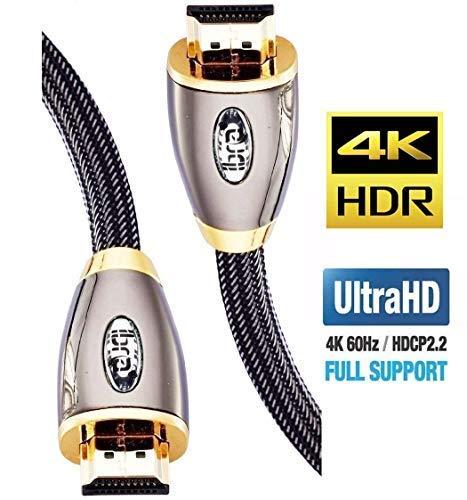 IBRA Cavo HDMI 4K Ultra HD 2M - Ethernet ad Alta Velocit Cavo 2.0b 18 Gbps 4K@60Hz UHD 2160p - PRO...