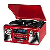 Victrola 50's Retro Bluetooth Record Player & Multimedia Center with Built-in Speakers - 3-Speed...