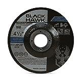 25 Pack Black Hawk 4-1/2' x .045 x 7/8' Arbor Depressed Center Cut Off Wheels - Metal & Stainless Steel Type 27