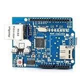 ARCELI Carte d'extension réseau Ethernet W5100 Shield avec logement de Carte...