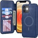 MagSafe対応 iPhone12 /iPhone12Pro ケース 手帳型 - 米軍軍事規格 超高耐衝撃 薄型 軽量 スマホケース iPhone 12 /iPhone 12 Pro ワイヤレス充電対応 スキミング防止 高級PUレザー Arae アイフォン12 /アイフォン12 プロ 2020新型 適応用 財布型 カバー (iPhone12 /12Pro 6.1INCH, ネイビー)