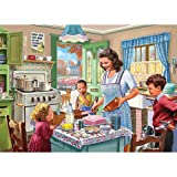 Bits and Pieces - 1000 Piece Jigsaw Puzzle for Adults 24' x 30' - Kitchen Memories - 1000 pc Old Fashioned Classic Family Baking Kitchen Jigsaw by Artist Steve Crisp