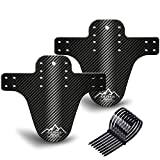 NICEDACK Bike Fender, MTB Mud Guard Front and Rear Compatible Bicycle Mud Guard Set Downhill Mountain Bike Mudguard Fits 650B 20' 26' 27.5' 29 inch and Fat Bicycle