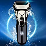 Vifycim Electric Razor for Men, Electric Shavers Dry Wet Waterproof Mens Foil Shaver, Facial Cordless Shaver Travel Usb Rechargeable with Pop-up Trimmer Led Display for Shaving Husband Dad