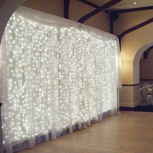 TORCHSTAR 9.8FT × 9.8FT Window Curtain Light, Extendable String Light...