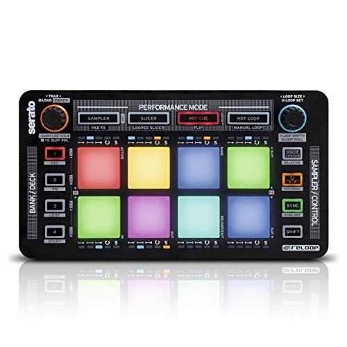Reloop Neon - Controller Add-on USB per DJ con Drum Pad RGB ad Alte Prestazioni Sensibile alla Velocit, Plug and Play con Serato DJ (Nero)