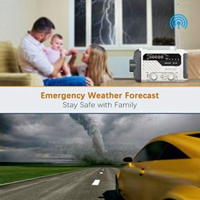 Emergency-Radio-dodocool-NOAA-Weather-Radio-Hurricane-Supplies-Hand-Crank-Battery-Operated-Solar-Survival-Radio-with-AMFM-LED-Flashlight-Reading-Lamp-2000mAh-Cell-Phone-Charger-SOS-Alert