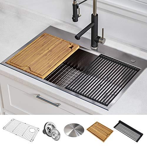 Kraus KWT310-30 KORE Kitchen Single Bowl, 30 Inch, 30'- Drop In...